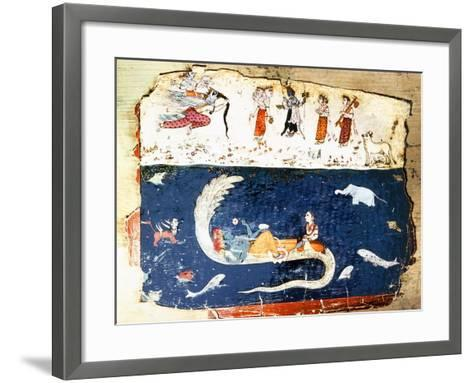 Vishnu Rests Between the Destruction of the World and the Creation of the New Universe--Framed Art Print