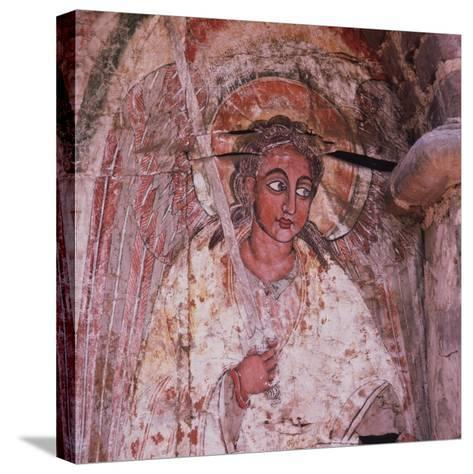 An Angel on the Door of the Debra Berhan (Abbey of Light)--Stretched Canvas Print