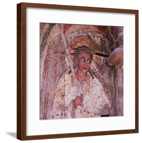An Angel on the Door of the Debra Berhan (Abbey of Light)--Framed Art Print
