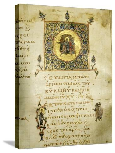 An Illuminated Page from the Gospel of St John--Stretched Canvas Print