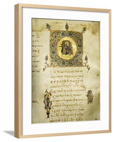 An Illuminated Page from the Gospel of St John--Framed Art Print