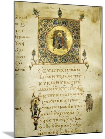 An Illuminated Page from the Gospel of St John--Mounted Giclee Print