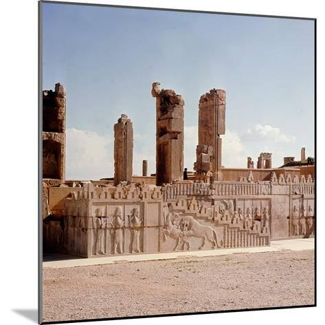 A Detail of a Relief Carving on the Staircase Leading to the Tripylon at Persepolis, Depicting a…--Mounted Giclee Print