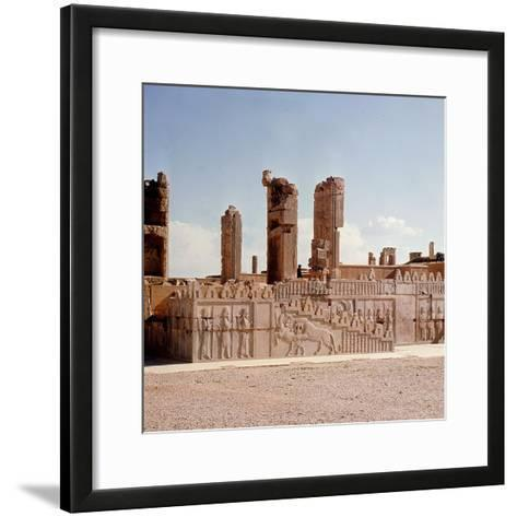 A Detail of a Relief Carving on the Staircase Leading to the Tripylon at Persepolis, Depicting a…--Framed Art Print