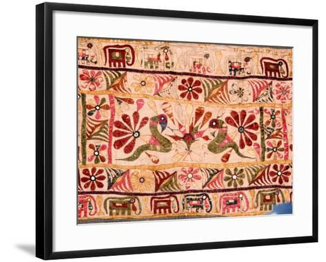 Detail of a Hanging Which Was Traditionally Made by a Mother for the Marriage of Her Daughter--Framed Art Print