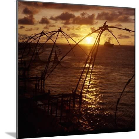 Typical Chinese-Style Fishing Nets in Use in Cochin Harbour--Mounted Giclee Print