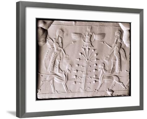 An Impression from a Cylinder Seal--Framed Art Print