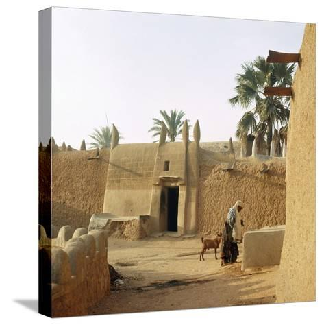 A House Made of Dried Mud in the Old Part of Kano, One of the Major Hausa-Fulani City States of…--Stretched Canvas Print
