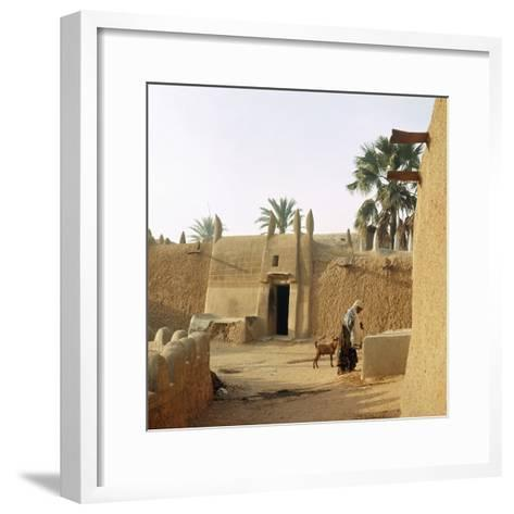 A House Made of Dried Mud in the Old Part of Kano, One of the Major Hausa-Fulani City States of…--Framed Art Print