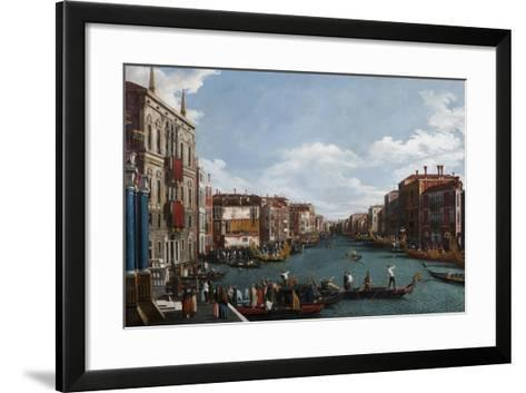 The Grand Canal at Venice-Canaletto-Framed Art Print