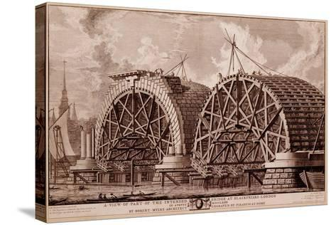A View of Part of the Intended Bridge at Blackfriars London, Print Made by Piranesi, 1764-Robert Milne-Stretched Canvas Print