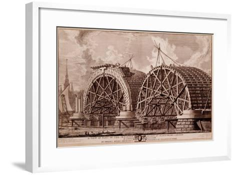 A View of Part of the Intended Bridge at Blackfriars London, Print Made by Piranesi, 1764-Robert Milne-Framed Art Print