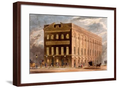 The Royal Couborg Theatre, 1826-Daniel Havell-Framed Art Print