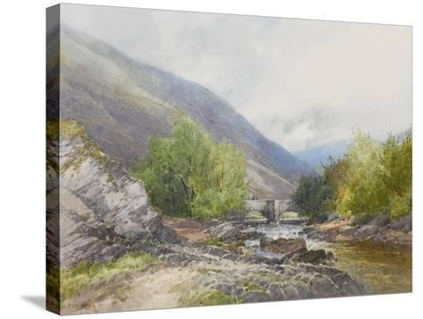 Fingle Bridge on the Teign , C.1895-96-Frederick John Widgery-Stretched Canvas Print