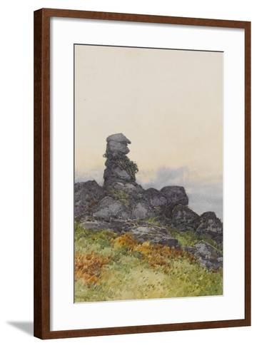 Bowerman?S Nose, Manaton Dartmoor , C.1895-96-Frederick John Widgery-Framed Art Print