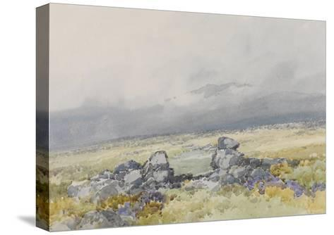 Grimspound, Dartmoor (Showing the Main Entrance from the South) , C.1895-96-Frederick John Widgery-Stretched Canvas Print