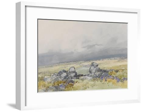 Grimspound, Dartmoor (Showing the Main Entrance from the South) , C.1895-96-Frederick John Widgery-Framed Art Print