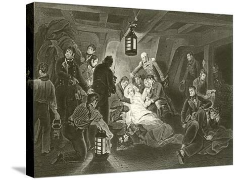 Death of Lord Nelson-Arthur William Devis-Stretched Canvas Print