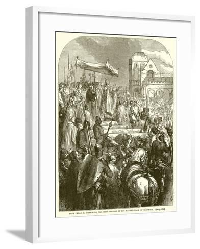 Pope Urban II Preaching the First Crusade in the Market-Place of Clermont--Framed Art Print