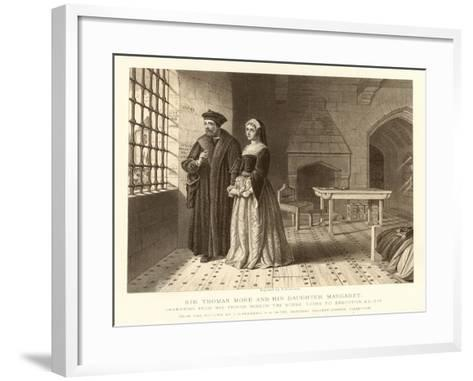 Sir Thomas More and His Daughter Margaret--Framed Art Print