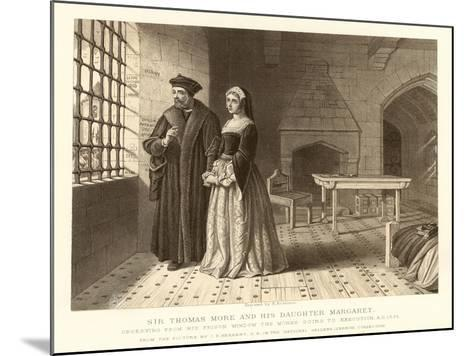 Sir Thomas More and His Daughter Margaret--Mounted Giclee Print