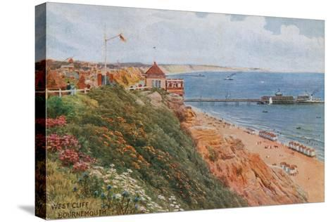 West Cliff, Bournemouth-Alfred Robert Quinton-Stretched Canvas Print
