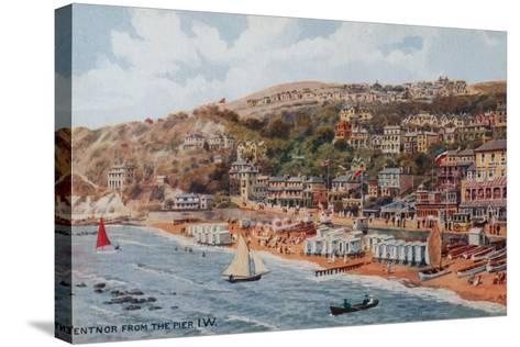 Ventnor from the Pier, Isle of Wight-Alfred Robert Quinton-Stretched Canvas Print