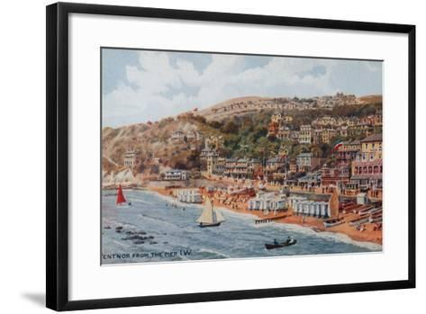 Ventnor from the Pier, Isle of Wight-Alfred Robert Quinton-Framed Art Print