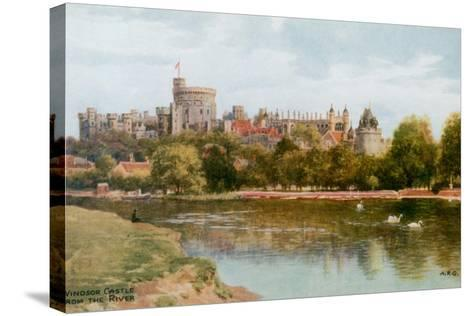 Windsor Castle-Alfred Robert Quinton-Stretched Canvas Print