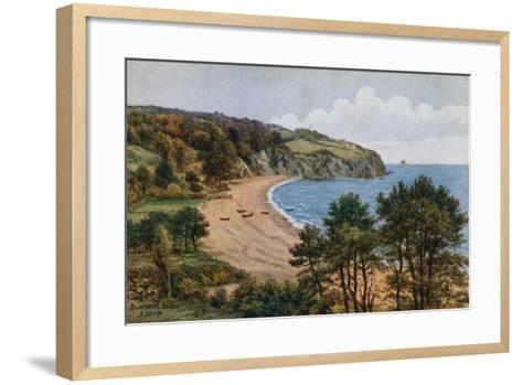 Blackpool Sands, South Devon-Alfred Robert Quinton-Framed Art Print