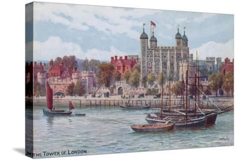 The Tower of London-Alfred Robert Quinton-Stretched Canvas Print