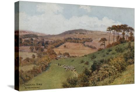 Cissbury Ring Near Worthing-Alfred Robert Quinton-Stretched Canvas Print