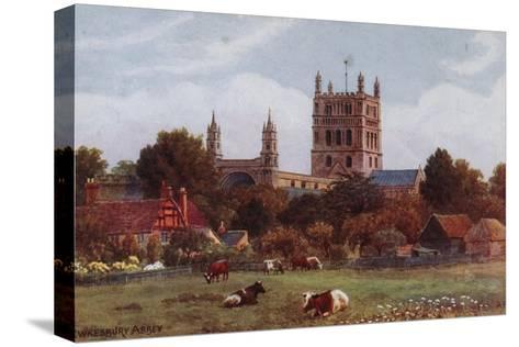 Twekesbury Abbey-Alfred Robert Quinton-Stretched Canvas Print