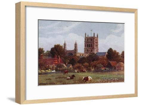 Twekesbury Abbey-Alfred Robert Quinton-Framed Art Print
