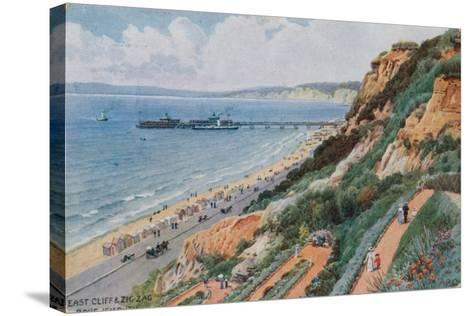East Cliff and Zig Zag, Bournemouth-Alfred Robert Quinton-Stretched Canvas Print