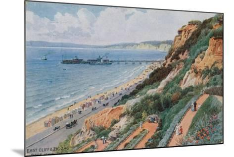 East Cliff and Zig Zag, Bournemouth-Alfred Robert Quinton-Mounted Giclee Print
