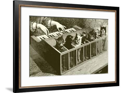 The Piano of Cats-English School-Framed Art Print