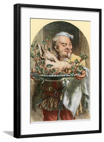 Bringing in the Boar's Head-Sir John Gilbert-Framed Art Print