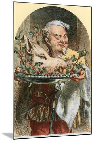 Bringing in the Boar's Head-Sir John Gilbert-Mounted Giclee Print