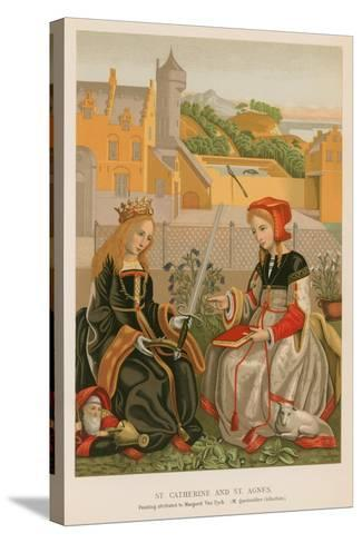 St. Catherine and St. Agnes--Stretched Canvas Print
