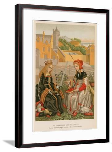 St. Catherine and St. Agnes--Framed Art Print