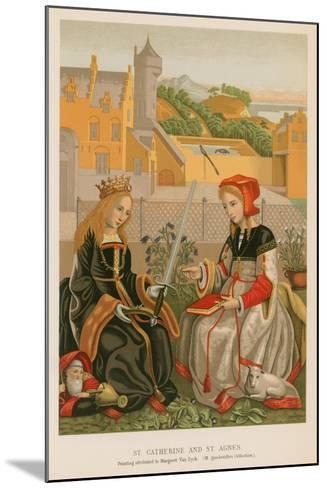 St. Catherine and St. Agnes--Mounted Giclee Print