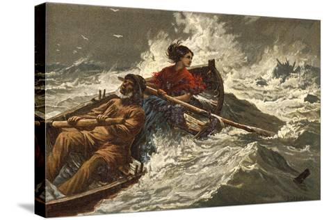 Grace Darling-Charles Joseph Staniland-Stretched Canvas Print