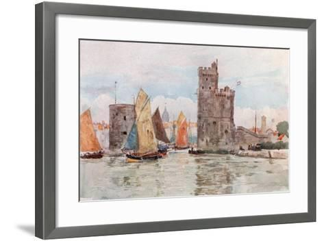 Entrance to the Harbor, La Rochelle-Herbert Menzies Marshall-Framed Art Print