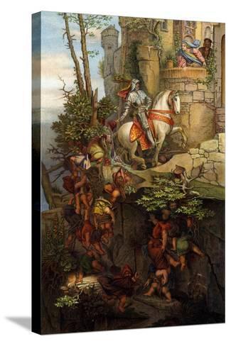 The Ride of Kuno Von Falkenstein-Moritz Ludwig von Schwind-Stretched Canvas Print