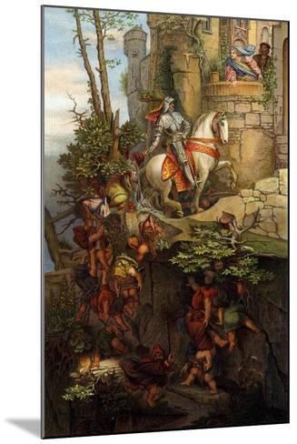 The Ride of Kuno Von Falkenstein-Moritz Ludwig von Schwind-Mounted Giclee Print