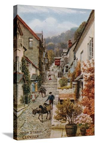 High Street, Clovelly-Alfred Robert Quinton-Stretched Canvas Print