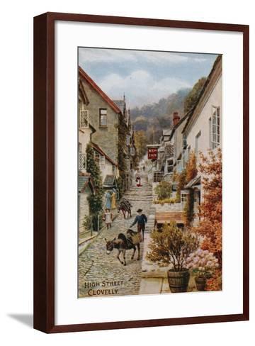 High Street, Clovelly-Alfred Robert Quinton-Framed Art Print