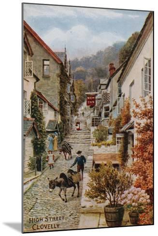 High Street, Clovelly-Alfred Robert Quinton-Mounted Giclee Print