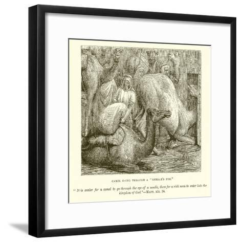 "Camel Going Through a ""Needle's Eye""--Framed Art Print"
